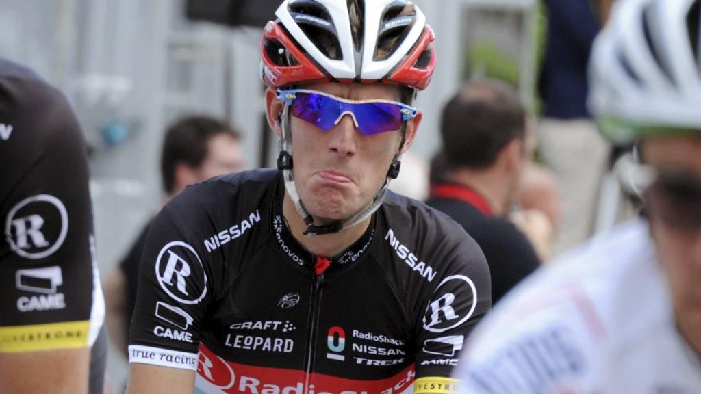 HENGER IKKE MED GEIPEN: Andy Schleck har ikke panikk, selv om Dauphiné-resultatene har vært elendige. (Foto: PASCAL PAVANI/Afp)