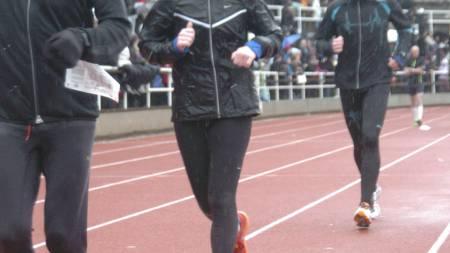 PÅ STADION: Hilde Gran i fint og optimistisk driv. (Foto: Marathonfoto)
