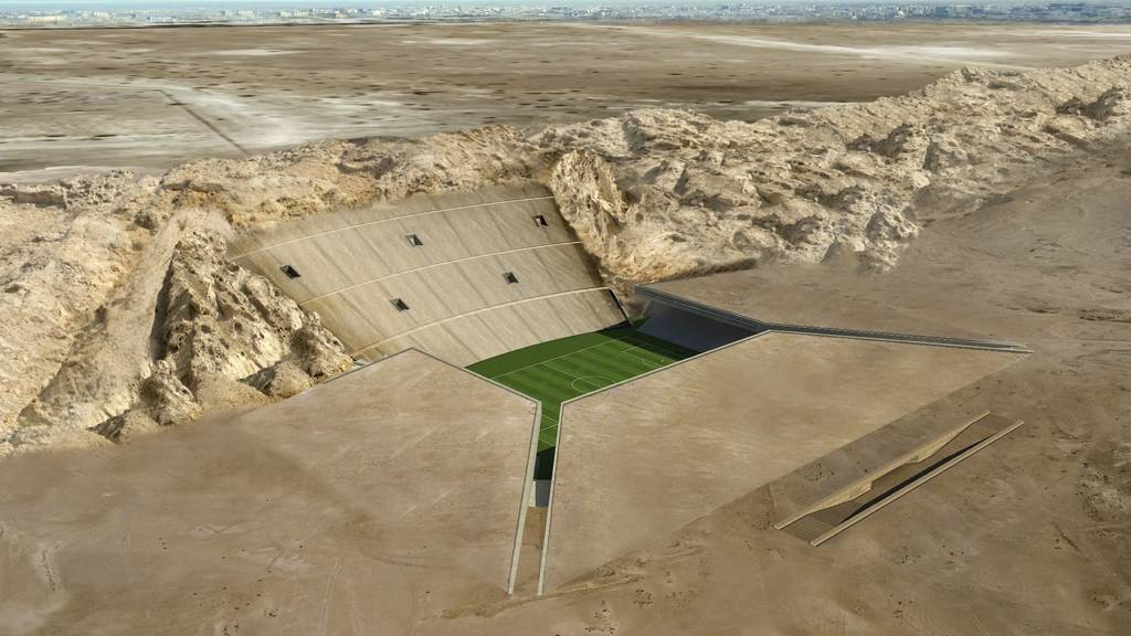 The Rock Stadium i Al Ain i De Forente Arabiske Emirater (Foto: MZ Architects/)