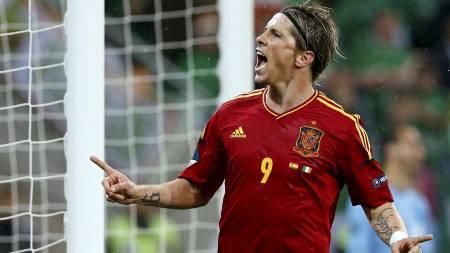 ENDELIG: Fernando Torres viste at han fortsatt har det inne da han scoret to mål i Spanias 4-0-seier over Irland. (Foto: Michael Sohn/Ap)