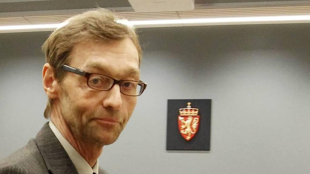 Leder av den Rettsmedisinske kommisjon Tarjei Rygnestad under  pause av rettsaken mot tiltalte Anders Behring Breivik i sal 250 i Oslo tinghus. tirsdag ettermiddag i forbindelse med rettssaken der Breivik står tiltalt for terrorangrepet i Oslo og på Utøya 22. juli 2011. (Foto: Åserud, Lise/NTB scanpix)