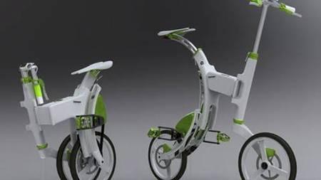 SCIENCE FICTION: To moderne elsykler fra franske Montpellier. (Foto: Illustrasjonsfoto/Colourbox/MAXPPP)