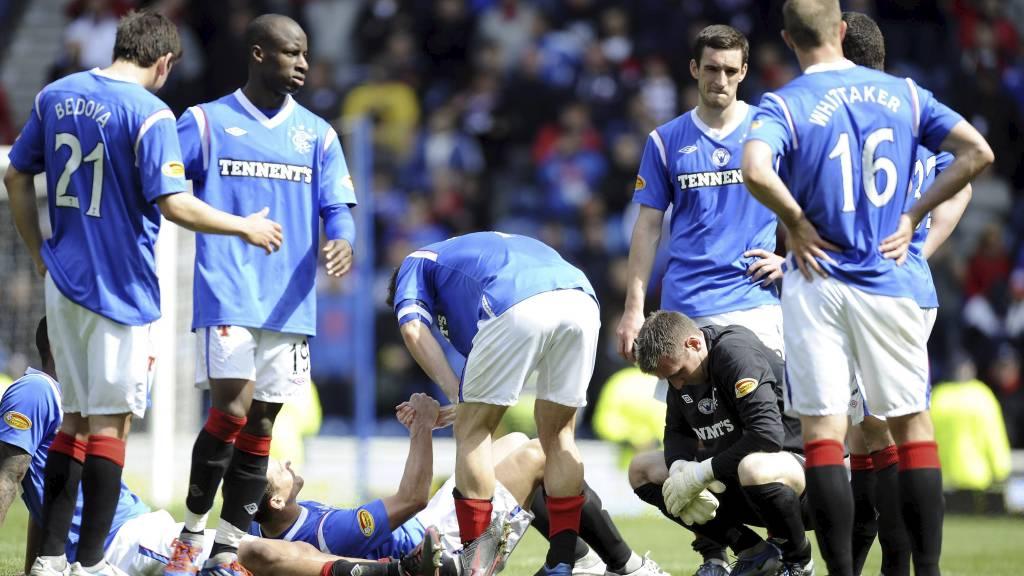 NEDBRUTT: Rangers kan ha spilt sin siste kamp. (Foto: Craig Halkett/Pa Photos)