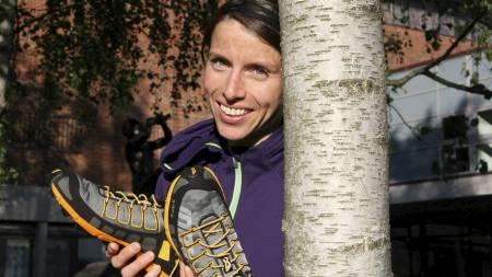 SKODD FOR TERRENGET: Anne Margrete Hausken Nordberg, verdensmester i orientering, mener terrengløping er den ultimate treningsformen om du er riktig skodd. (Foto: Eivind A. Pettersen/)