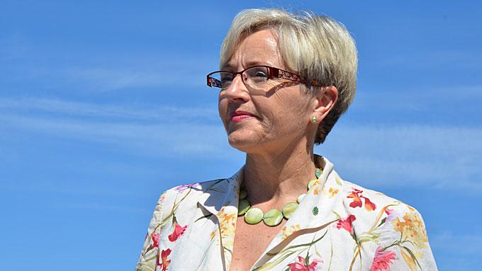 Liv SIgne Navarsete er leder i Senterpartiet. Onsdag oppsummerte hun den politiske våren 2012. (Foto: Kjetil Løset/TV 2)