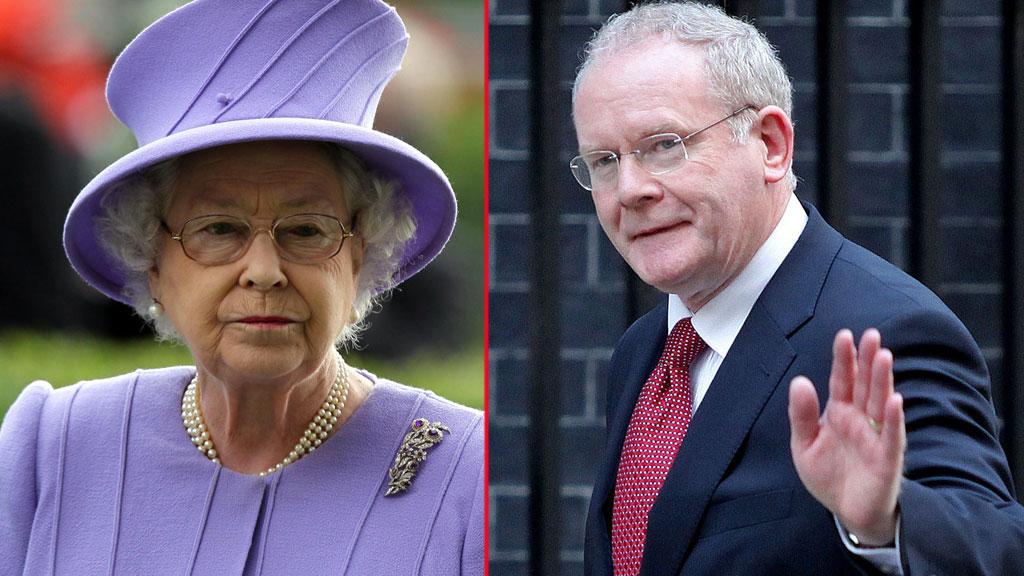 HISTORISK MØTE: Aldri før har dronning Elizabeth hilst på personer med IRA-bakgrunn. Onsdag skal hun hilse på den tidligere ITA-toppen Martin McGuinness. (Foto: SCANPIX)