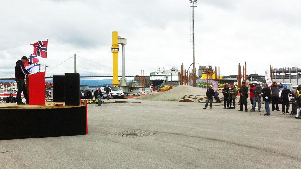 SKRINT I REKKENE: Det var relativt lite oppmøte  (Foto: Tor Gaute Syrstad/TV 2)