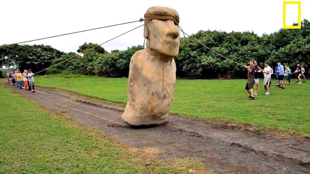 Påskeøya moai-statuer (Foto: National Geographic)