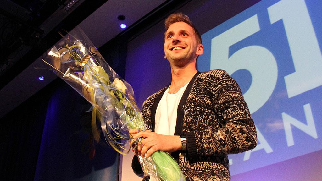 Paul Joakim Sandøy er valgt til ny leder i Unge Høyre (Foto: Viktor Wiese/Unge Høyre)