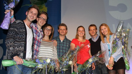 Paul   Joakim Sandøy (leder), Kristian Tonning Riise (sentralstyremedlem), Maria   Kristine Göthner (sentralstyremedlem). Peter Christian Frølich (sentralstyremedlem),   Iris Aunvik (sentralstyremedlem), Fredrik Punsvik (1. nestleder), Serine   Jonassen (2. nestleder) (Foto: Viktor Wiese/Unge Høyre)