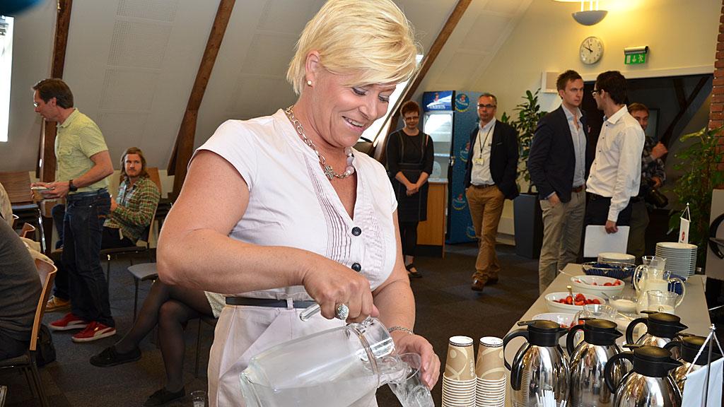 Frp-leder Siv Jensen oppsummerte tirsdag det siste halvåret i politikken (Foto: Christofer Kjos Gabrielsen/TV 2)