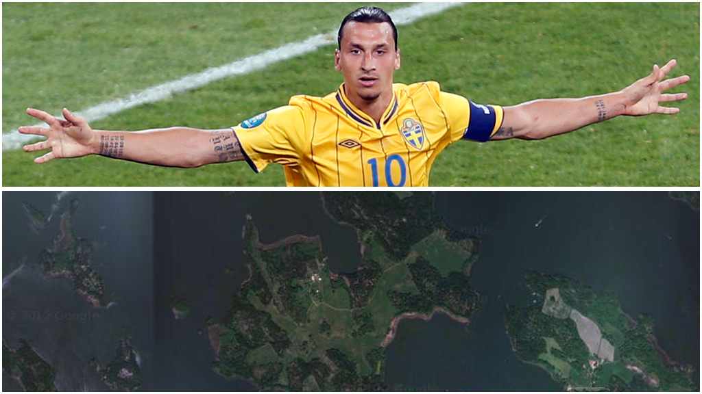 zlatan ibrahimovic (Foto: Scanpix/Google earth)