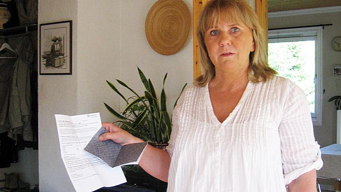 30.000 FEILSENDT: Laila Haarstad fra Gjøvik er en av de over 30.000 som har fått kredittopplysningene til noen andre i posten. - Hvem har fått mine kredittopplysninger? spør hun. (Foto: Privat)