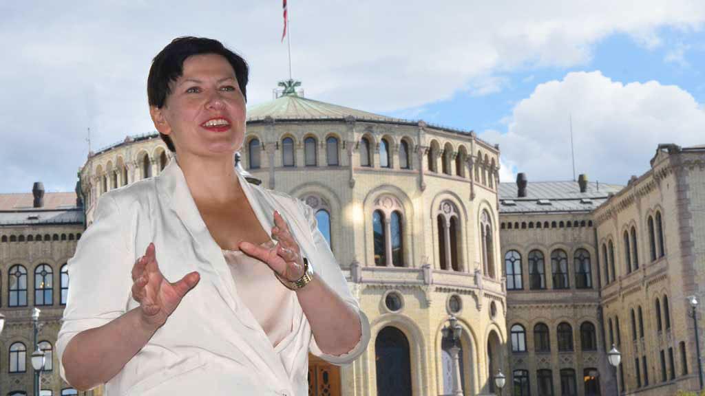 Helga-Pedersen-Stortinget 2 (Foto: Christofer Kjos Gabrielsen/TV 2)
