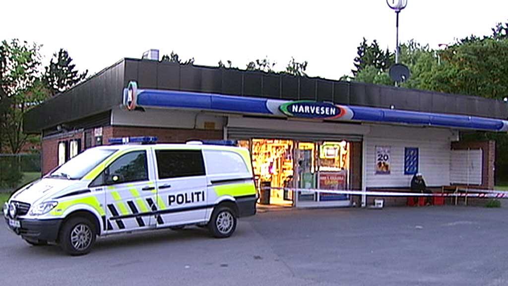 RAN: Denne kiosken i Oslo ble ranet, torsdag kveld. Men utbyttet ble magert. - De fikk ikke med seg noe, sier operasjonsleder Belle til tv2.no. (Foto: Ola Thingstad/TV 2)