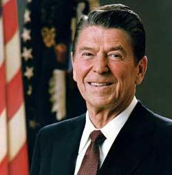 SATTE HARDT MOT HARDT: President Ronald Reagan. (Foto: Wikimedia   Commons)