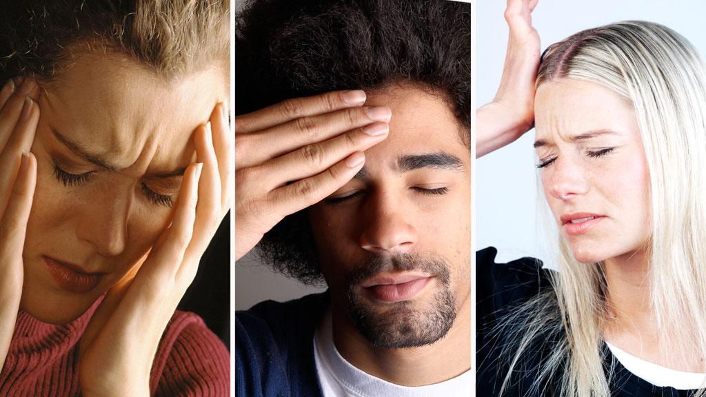 Det finnesrundt  ti forskjellige typer av primære hodepinene og kanskje tusen sekundære typer.  ¿ Man finner dem ved å høre sykehistorien og se på kjennetegnene. Med de sekundære hodepinene er smerten ofte situasjonsbestemt, sier ekspert.  (Foto: Illustrasjonsfoto)