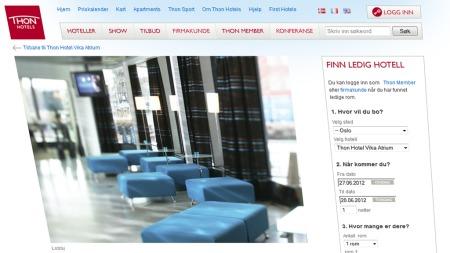 thon-hotel-web (Foto: Skjermdump/Camilla Brække)