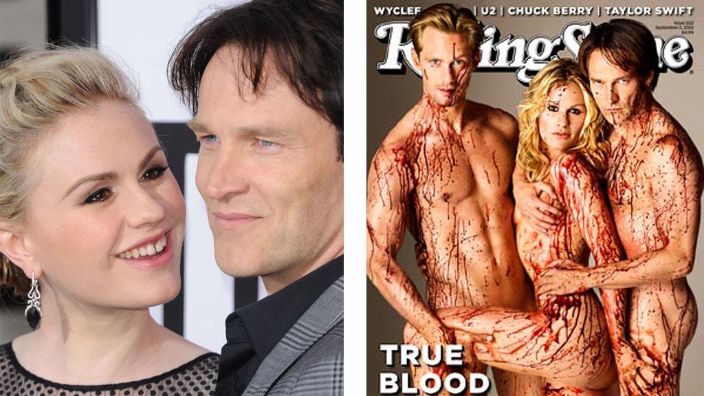 VENTER TVILLINGER: Skuespiller-kollega røper at True Blood-paret venter dobbel lykke til høsten.