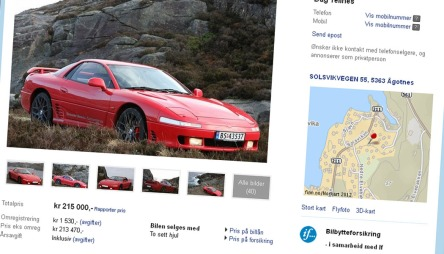 Denne bilen er til salgs på finn akkurat nå.