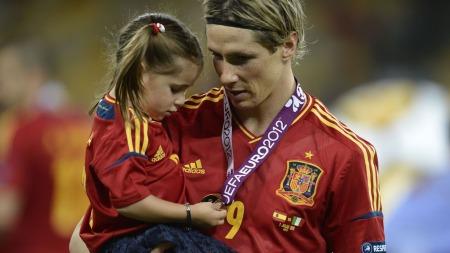 Fernando Torres med datteren (Foto: Filippo Monteforte)