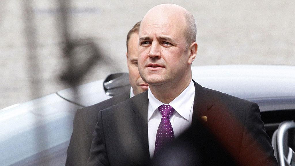 Fredrik Reinfeldt er statsminister i Sverige for Moderaterna  (Foto: REUTERS/SCANPIX)