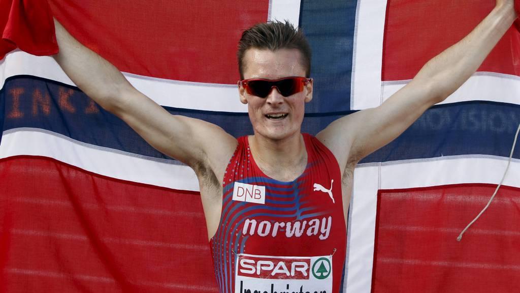 Henrik Ingebrigtsen etter 1500 meter finalen søndag ettermiddag. (Foto: Åserud, Lise/NTB scanpix)