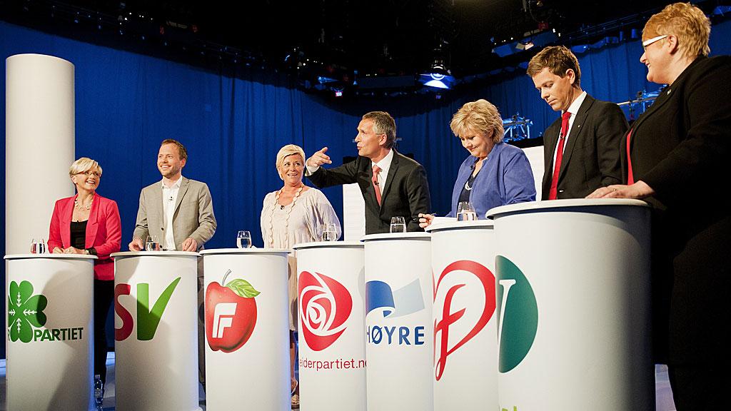 TIL SALT I MATEN: Ingen av lederne i de syv store politiske partiene har grunn til å klage på lønnen.  (Foto: SCANPIX)