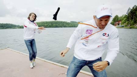 Nils Jakob Skulstad Hoff og Olaf Tufte under pressetreffet med roerne som skal til OL i London. (Foto: Solum, Stian Lysberg/NTB scanpix)