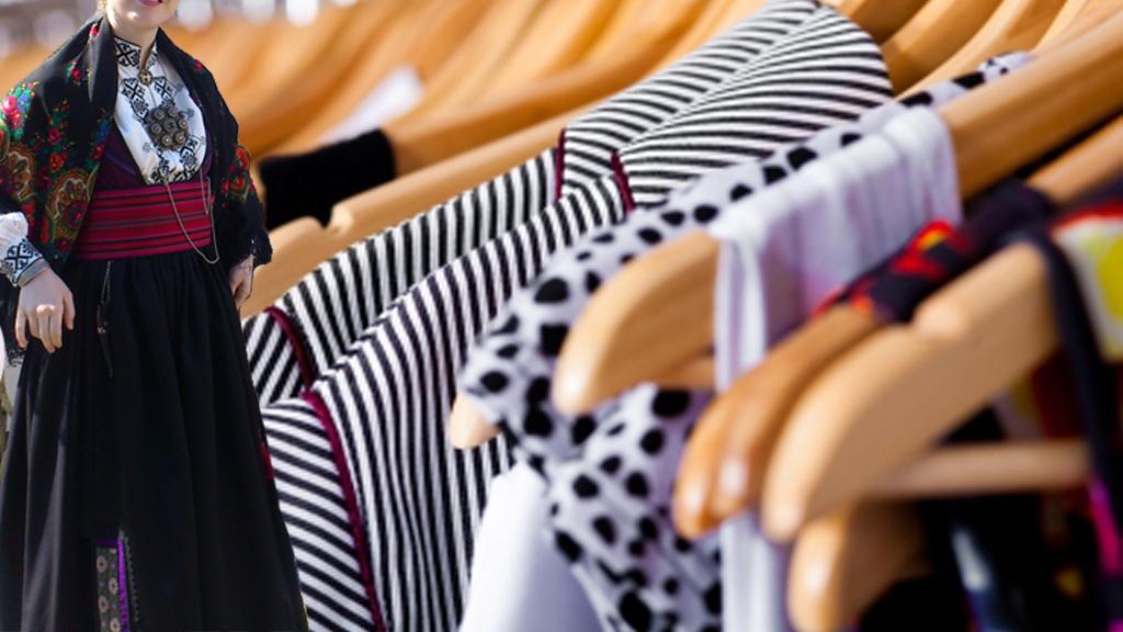 TRADISJONSLØSHET OG FORBRUKERSAMFUNN: Når de asiatiske tekstilarbeiderne i fremtiden vil kreve like mye som en gjengs, norsk industriarbeider, husker vi da hvordan vi skifter en knapp og syr om en bluse? (Foto: unknown)