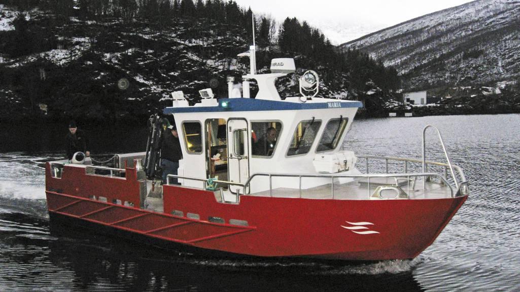 VELPRØVD KONSTRUKSJON: Maria er en hurtiggående enskrogsbåt av en type som er mye brukt langs kysten. (Foto: Grovfjord Mek Verksted/NTB scanpix)