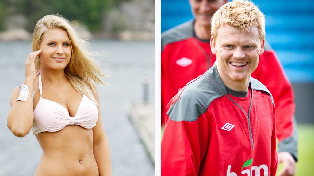 FORLOVET: John Arne Riise og Louise Angelica Markussen ble kjærester  i mai og nå er de forlovet.