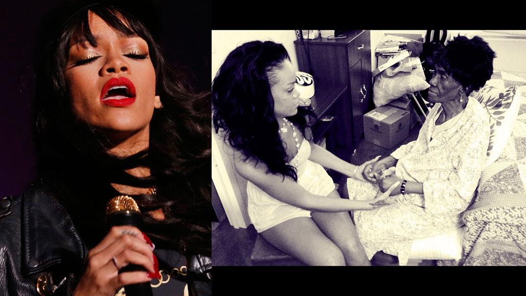 MISTET BESTEMOREN: Rihanna kom hjem til den sørgelige nyheten om at bestemoren var gått bort etter Norgesbesøket.