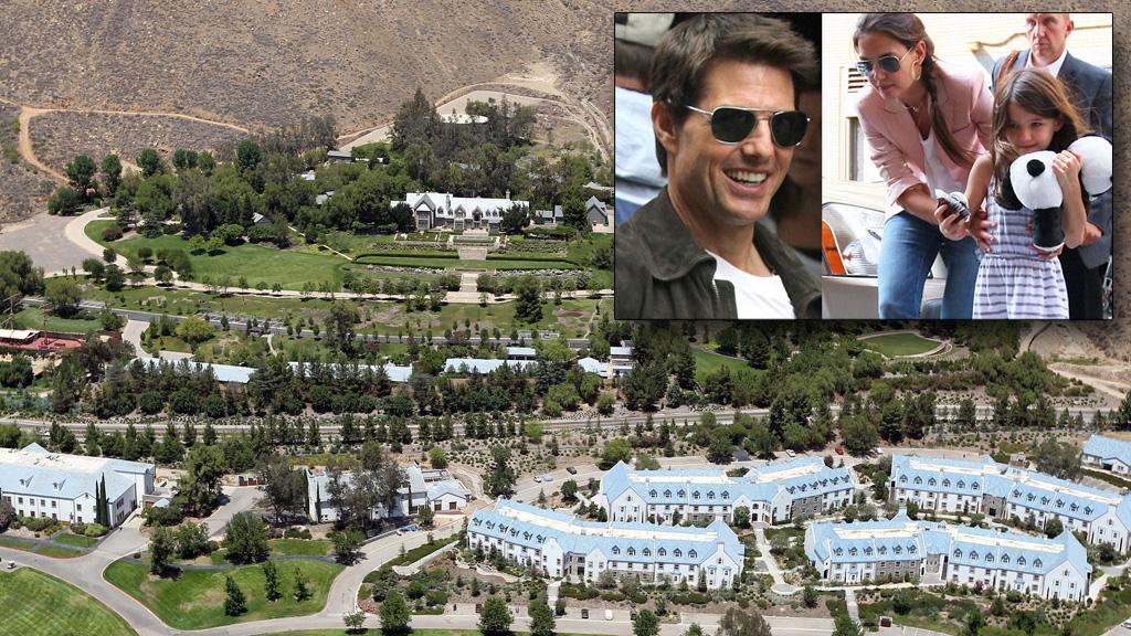 FLYKTER: Katie Holmes skilles fra Tom Cruise. En av grunnene skal visstnok være at Cruise vil sende datteren Suri (7) på opplæring hos Sea Org, en radikal scientoloiorganisasjon.  (Foto: Bildemontasje)