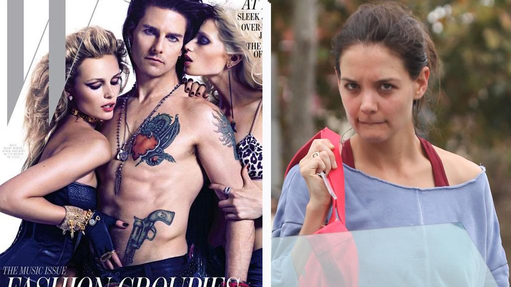 RASTE: Katie Holmes skal ha blitt mindre fornøyd av W magazines  bilder av Tom Cruise.