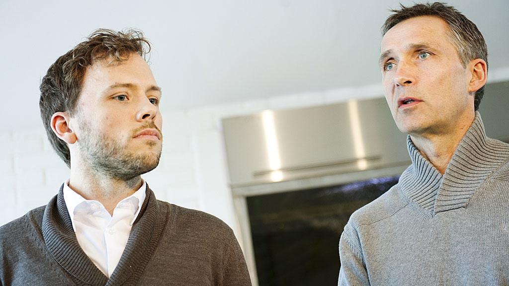 Audun Lysbakken (SV) og Jens Stoltenberg (Ap) (Foto: SCANPIX)