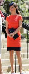 Å velge rød kjole signaliserer at du konkurrerer med bruden. Så ikke gjør som Pippa Middleton. (Foto: Stella Pictures)