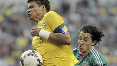 TIL OL: AC Milans Thiago Silva. (Foto: Brandon Wade/Afp)