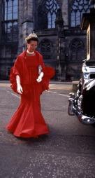 Dronning Sonja på besøk i Storbritannia i 1994.