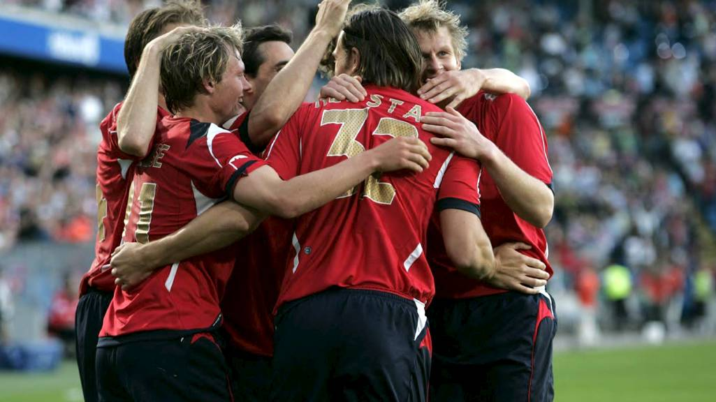 Norge slo Malta 4-0 sommeren 2007. Malta-spiller Kevin Sammut er utestengt i 10 år for å ha involvert i å fikse kampen. (Foto: Lien, Kyrre/NTB scanpix)