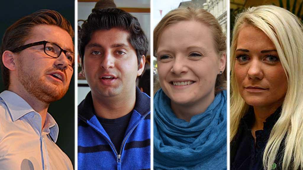 Ungdomspolitikere (Foto: TV 2-montasje)