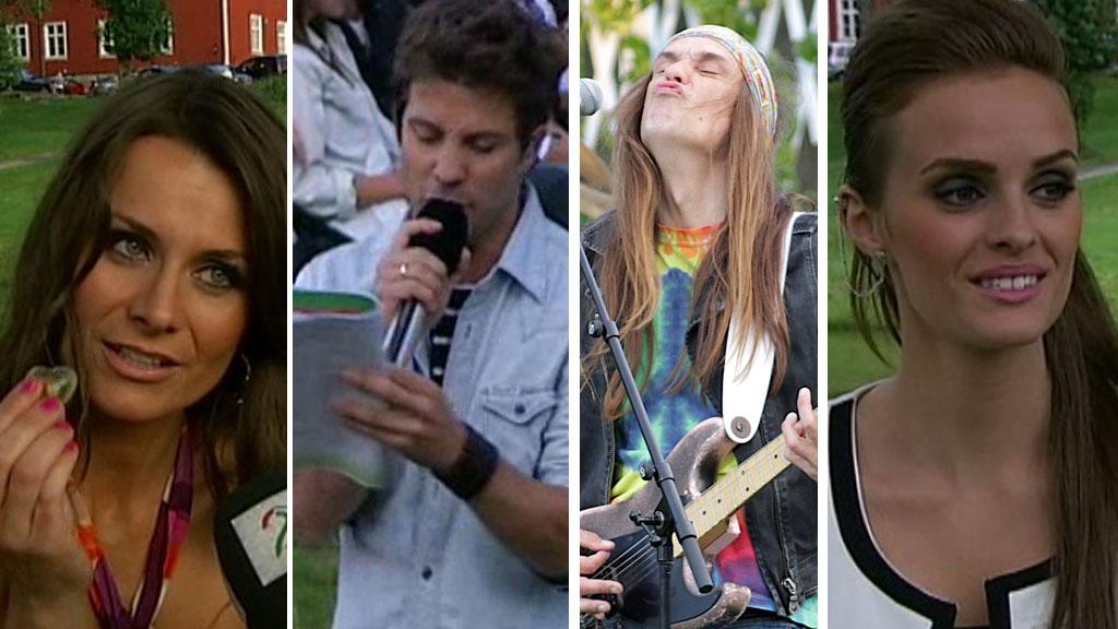 BLI MED BACKSTAGE: Under årest fjerde program av «Allsang på gresnen» byr både artister og programledere på seg selv.