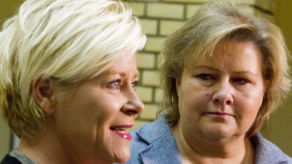 BLÅBLÅTT: Frp ønsker seg ikke en regjering bestående bare av  Høyre og Frp - selv om de to partiene skulle få flertall. (Foto: Junge,  Heiko/NTB Scanpix)