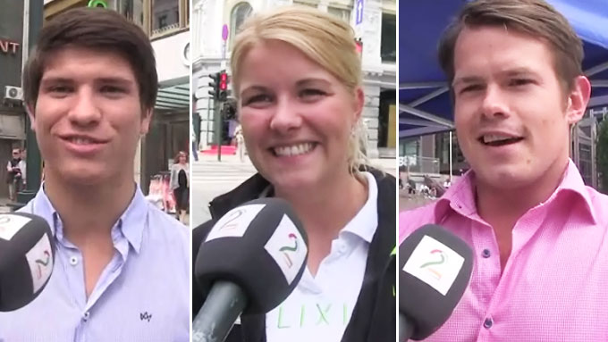 gateselgere på karl johan (Foto: TV 2)