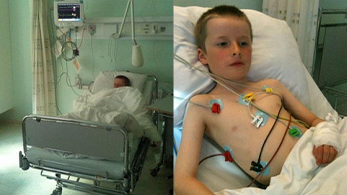INNLAGT: Levi fikk seg en natt på sykehus i Tromsø etter å ha spist Tyrihjelm. Det gjør han neppe igjen... (Foto: PRIVAT)