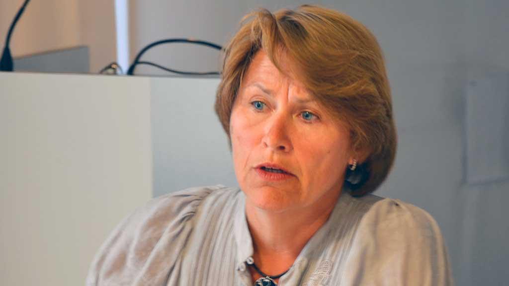 Justisminister Grete Faremo har godkjent at tidligere PST-sjef Janne Kristiansen blir ansatt som som spesialrådgiver i hennes eget departement. (Foto: Christofer Kjos Gabrielsen / TV 2)