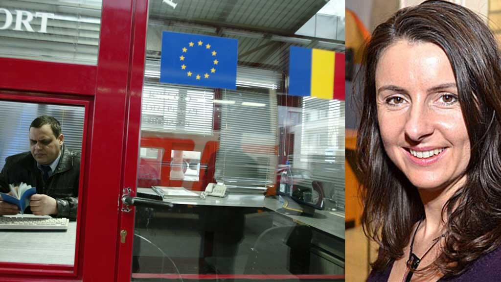 VIL UT: Senterpartiets Jenny Klinge vil ha Norge ut av Schengen. Til høsten blir etter planen bl.a. Romania med av Schengen-samarbeidet. (Foto: SCABPIX og TV 2)