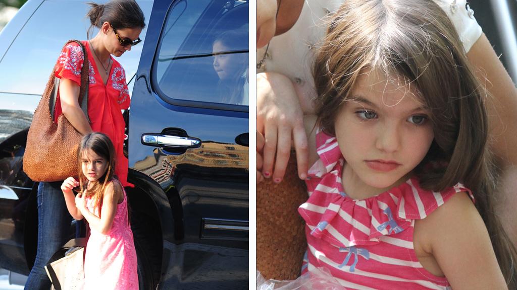 ULYKKE: Katie Holmes og datteren ble utsatt for en bilulykke mandag kveld.