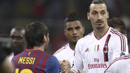 UENIG: Zlatan mener Messi ikke fortjener Gullballen for 2012. (Foto: LaPresse/Jonathan Moscrop/Ap)