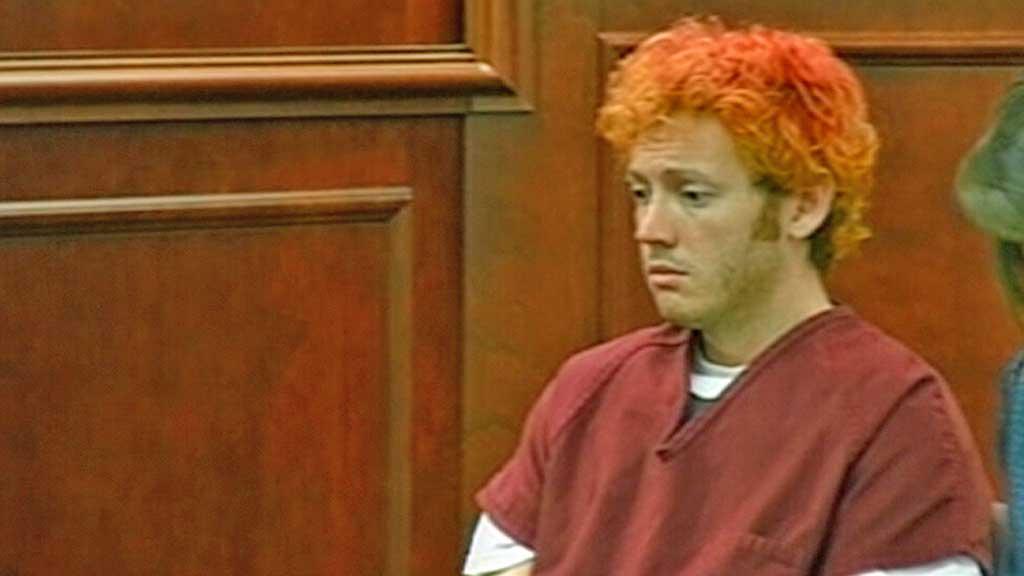 Denver-skytteren James Holmes i rettssalen mandag ettermiddag. (Foto: UPL)